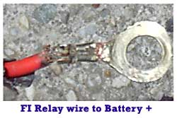 FI Relay Wire to Battery +